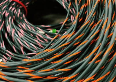 cable orange pink stripe